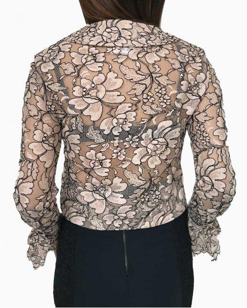 Camisa Chanel Renda Rosa