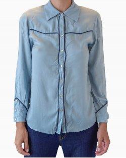 Camisa Cris Barros Azul Claro