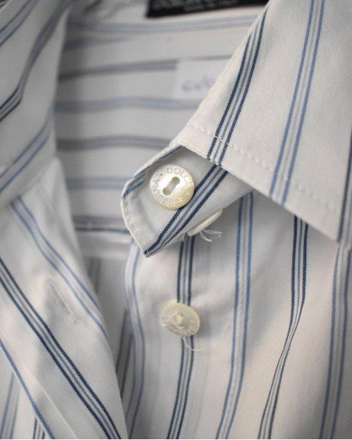 Camisa D&G Listra Azul