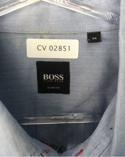 Camisa Hugo Boss Azul Listras