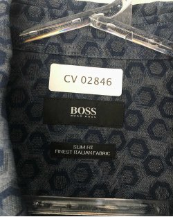 Camisa Hugo Boss Hexagono Azul