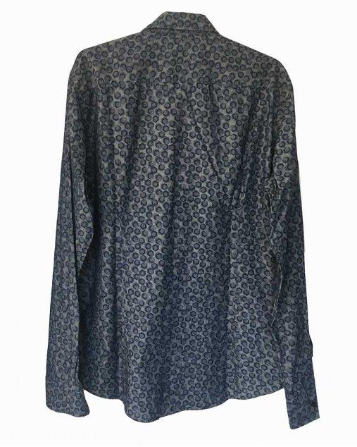 Camisa Hugo Boss Hexagono Azul