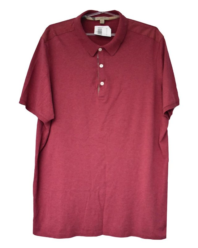 Camisa Polo Burberry Bordô Masculina