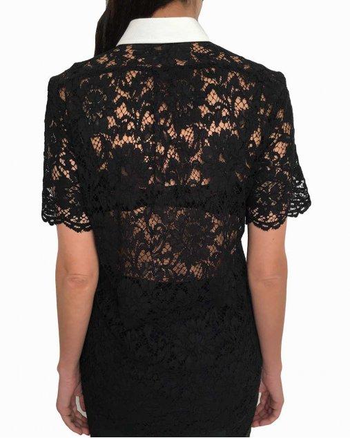 Camisa Valentino Renda Preta