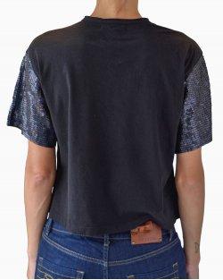 Camiseta Talie Nk Paetês Preta