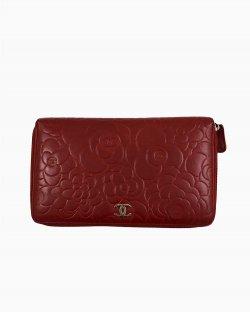 Carteira Chanel Vermelha Bordeaux