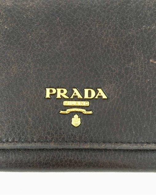 Carteira Prada Vintage Marrom