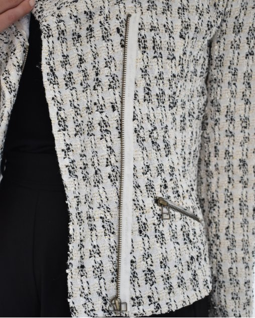 Casaco Talie Nk Tweed Branco