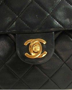 Chanel Classic Flap Vintage Preta