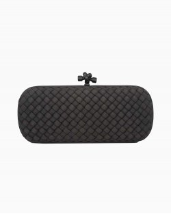 Clutch Bottega Veneta Knot Grafite