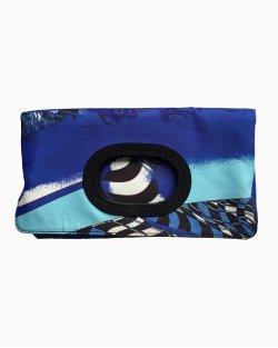 Clutch Emilio Pucci Tecido Azul