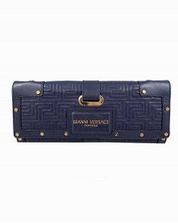 Clutch Gianni Versace Couro Azul