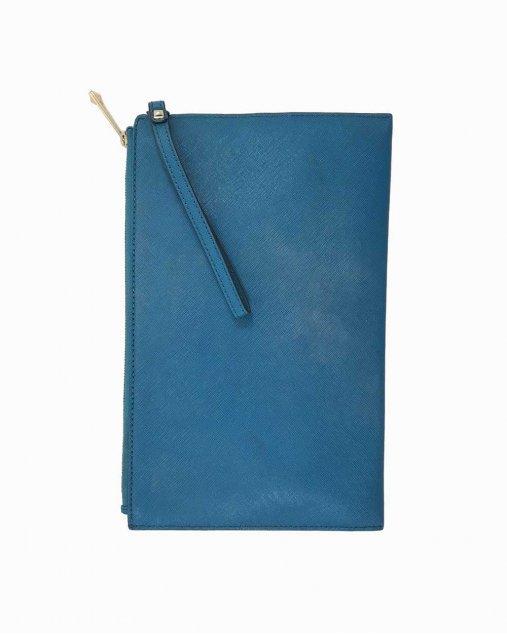 Clutch Michael Kors Couro Azul
