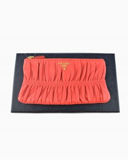 Clutch Prada Nappa Gaufre Coral