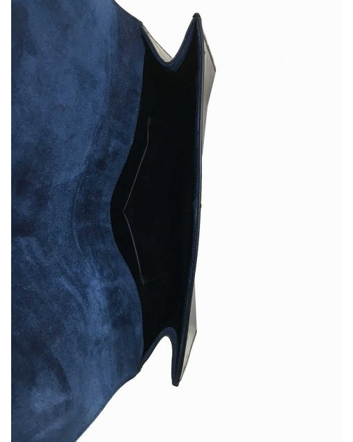 Clutch Saint Laurent Verniz Azul-marinho