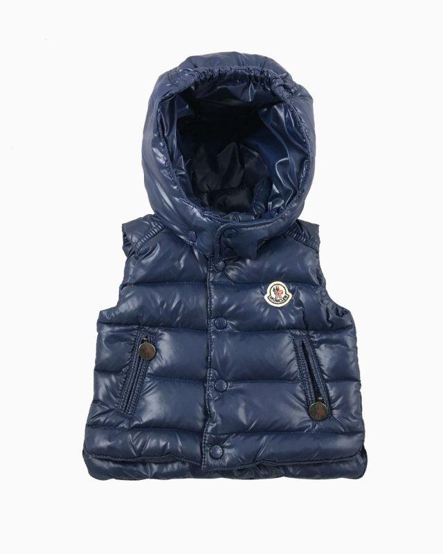 Colete Moncler Capuz Azul Marinho Infantil