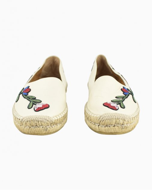 Espadrille Gucci Couro Floral