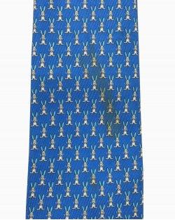 Gravata Azul Coelho Ferragamo