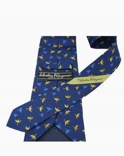 Gravata Azul Passaro Ferragamo