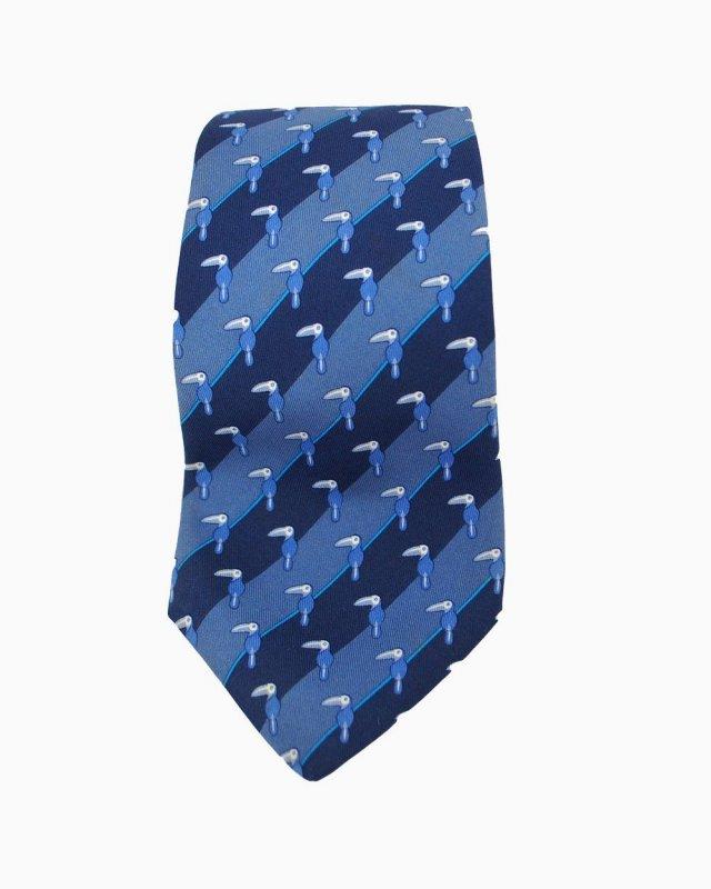 Gravata Azul Tucano Hermès