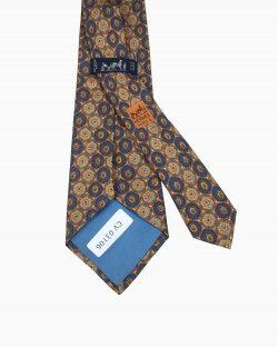 Gravata Hermes Arabescos Azul