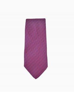 Gravata Hermès Estampada Vinho e Azul