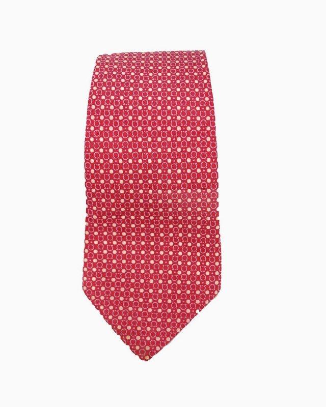 Gravata Vermelha Estampa Ferragamo