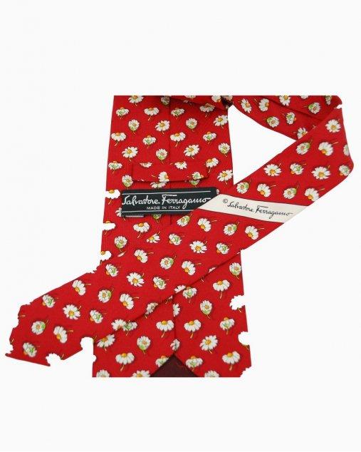 Gravata Vermelha Flor Ferragamo