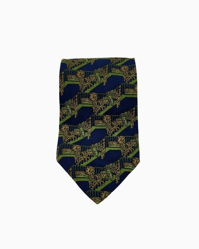 Gravata YSL Azul e Verde