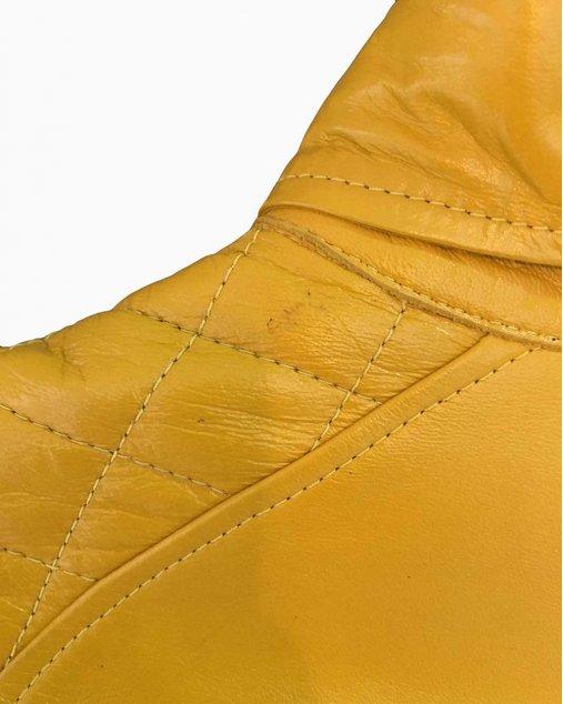 Jaqueta NK Couro Amarelo