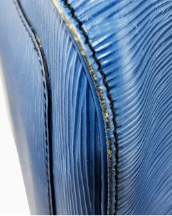 Mala Louis Vuitton Keepall 55 Epi Azul