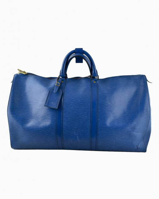 Mala Louis Vuitton Keepall 55 Epi Azul