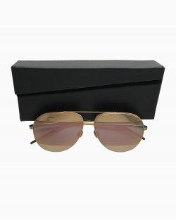 Óculos Dior Split Dourado e Rosa
