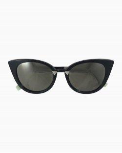 Óculos Fendi Cat Eye Espelhado Preto