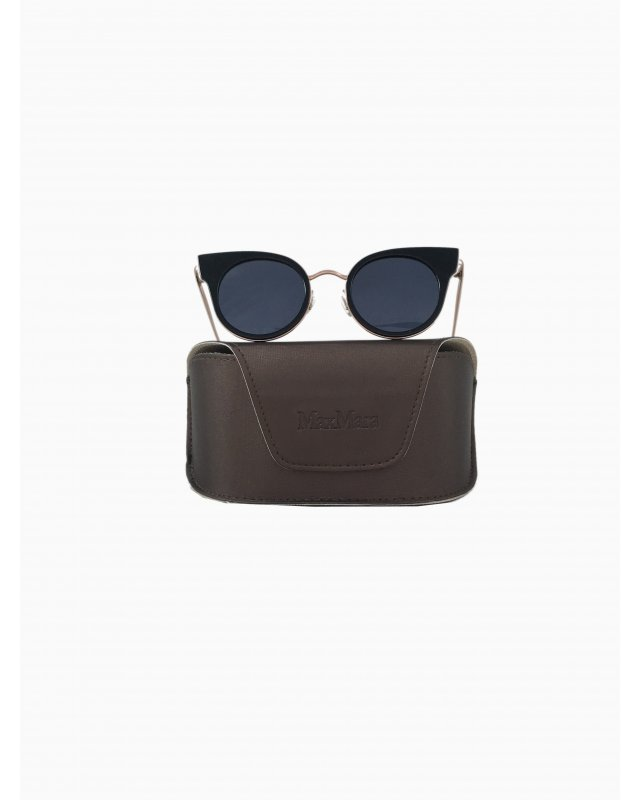 Óculos MaxMara Preto e Dourado