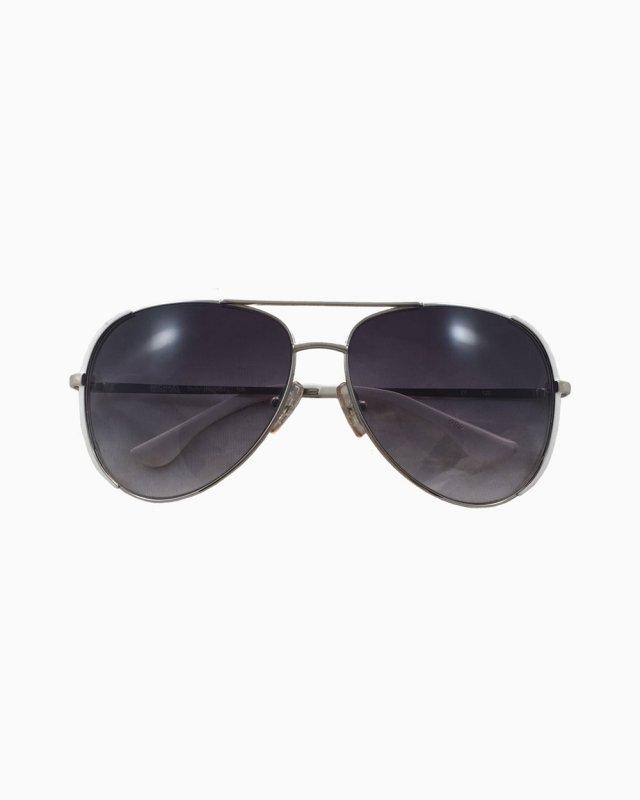 Óculos Michael Kors Aviador Metal Prata