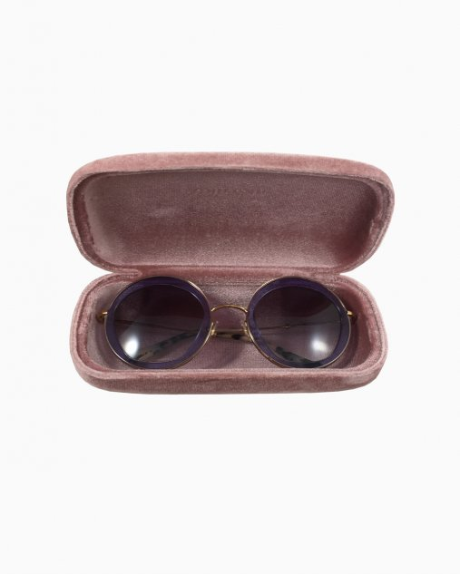 Óculos Miu Miu Rounded Roxo