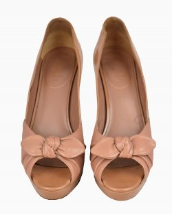 Peep Toe Yves Saint Laurent Nude