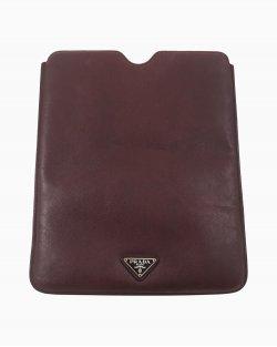 Porta iPad Prada Couro Saffianoi Burgundy