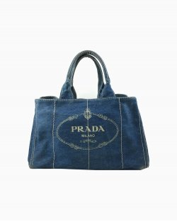 Prada Denim Small Gardner's Tote