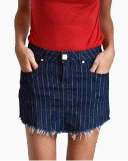 Saia Carol Bassi Jeans Listrada