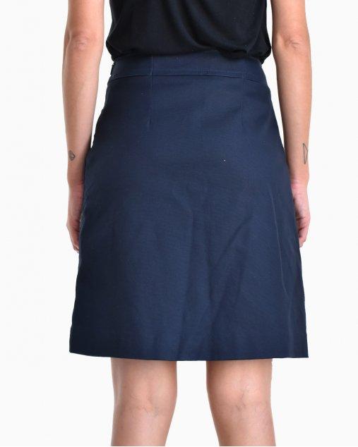 Saia Carolina Herrera Azul Marinho