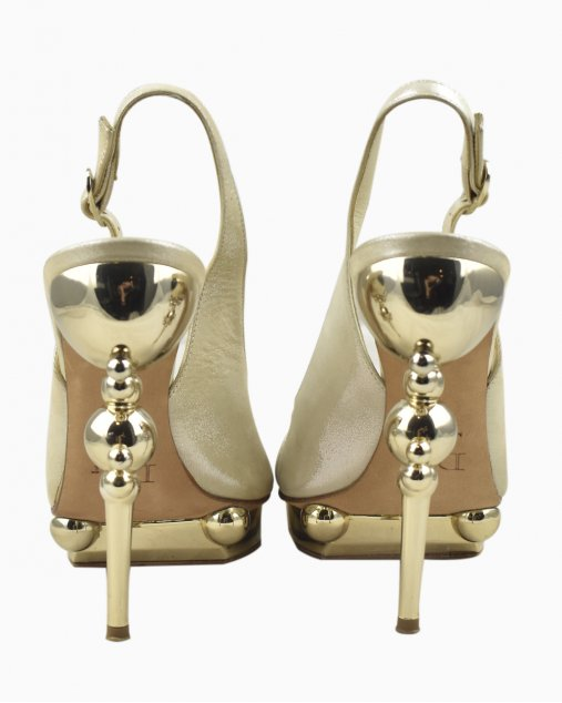 Sandália Christian Dior Dourada