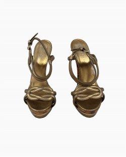 Sandália Gucci Dourada