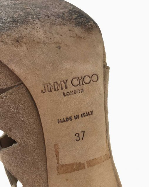 Sandália Jimmy Choo Camelo Camurça