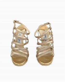 Sandália Jimmy Choo Dourada