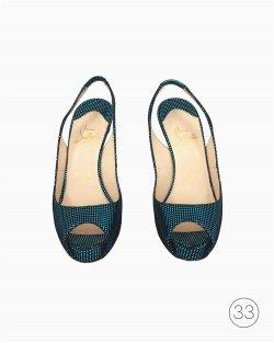 Sandália Louboutin Azul
