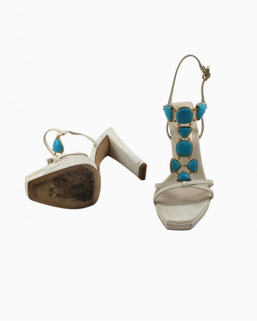 Sandalia Salto Alto Dior com Pedras