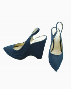 Sandália Stella McCartney Azul-marinho Tecido
