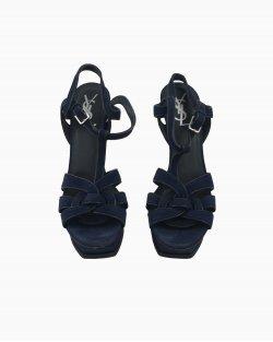 Sandália Yves Saint Laurent Tribute Azul-marinho